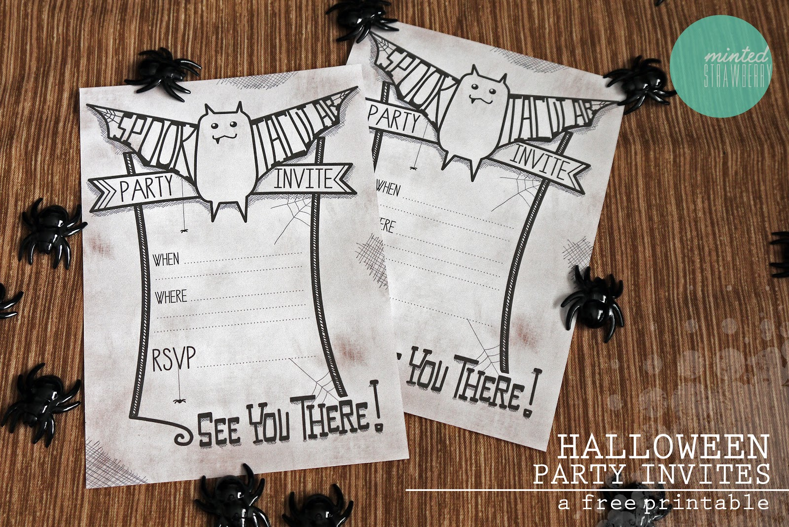 Free Printable: Spooktacular Party Invites (for Halloween ...
