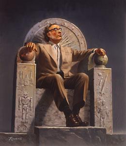 Isaac Asimov por Rowena Morrill