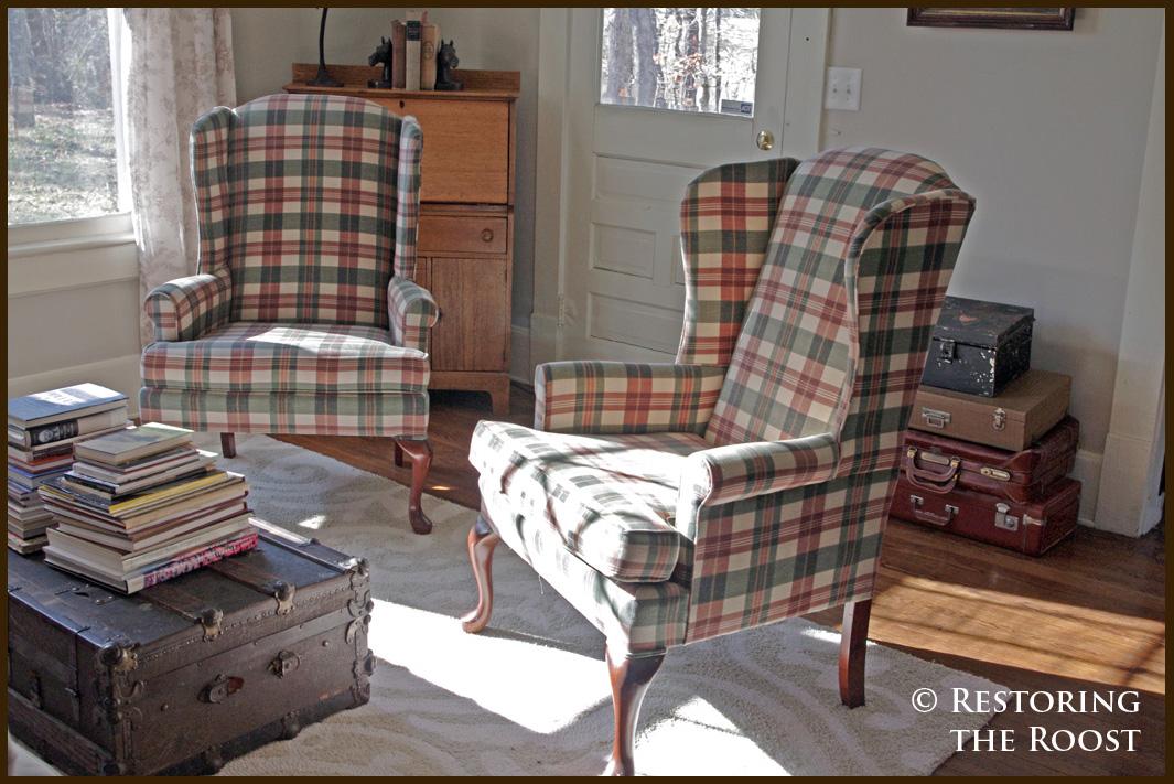 plaid living room chairs modern house