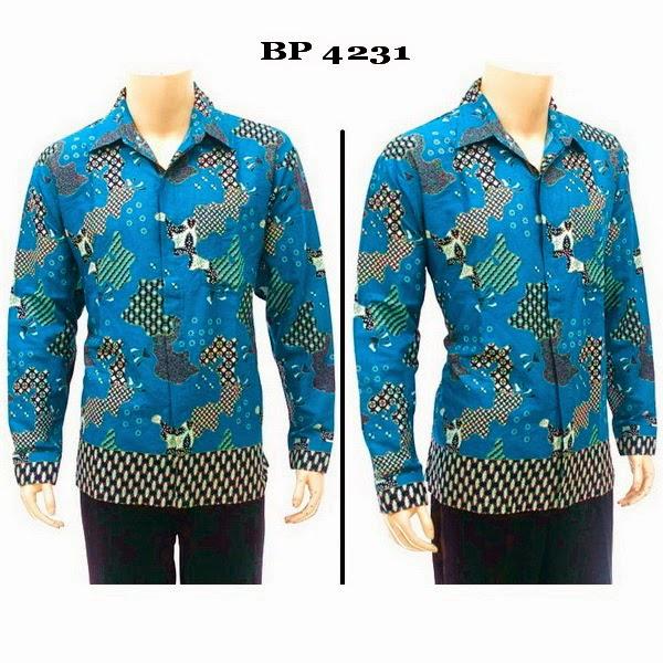 Baju Batik Kemeja Lengan Panjang
