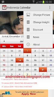Aplikasi Kalender Indonesia 2014 untuk Android