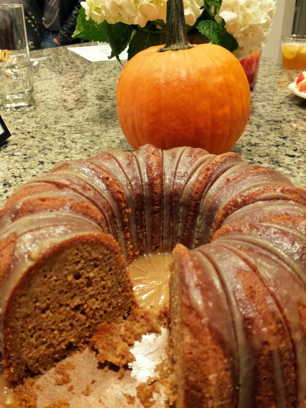Pumpkin cake made from Papa Spud's pumpkins in farm to fork delivery service