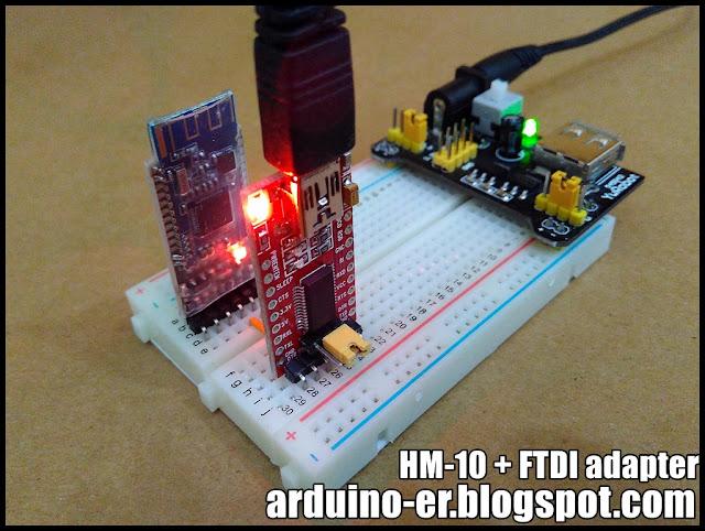 Arduino er test hm bluetooth ble module with ftdi