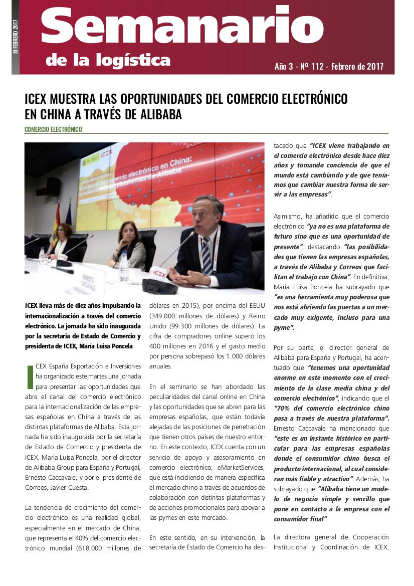 SEMANARIO DE LA LOGISTICA 112