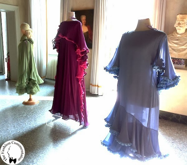 Valentina Cortese - Mostra Milano - Roberto Capucci dresses in the first room of the exhibition