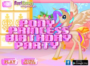 O aniversário da pony