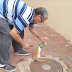 A simple act of kindness, this guy lends a helping hand to a cat