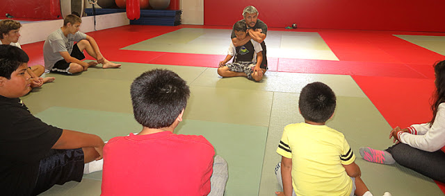 Children learning Jiu Jitsu in Oceanside