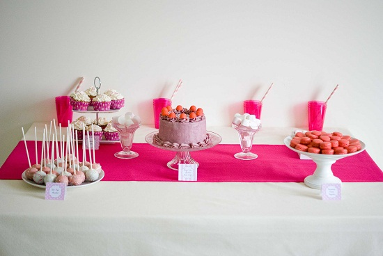 table gourmande pink