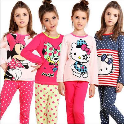 Model Baju Tidur Anak Perempuan Motif Hello Kitty