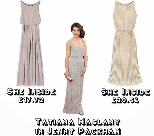 Steal Her style golden globes 2014  get the look red carpet fashion tatiana maslany jenny packham she inside