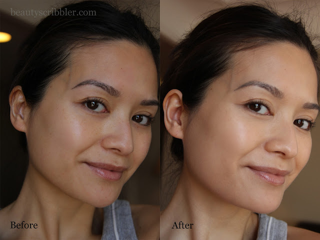 Amarté Natural Finish BB Cream before and after