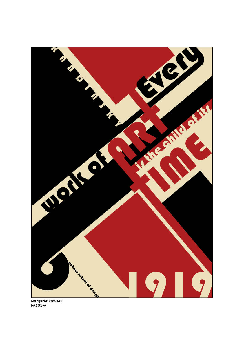 Poster design history - History Poster Chosen Design Bauhaus