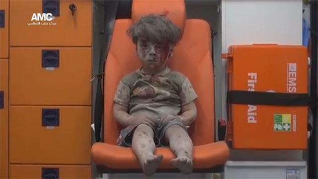El Niño Horus en Alepo
