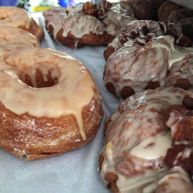 Nola Doughnut's Maple Doughnut and Apple Fritter