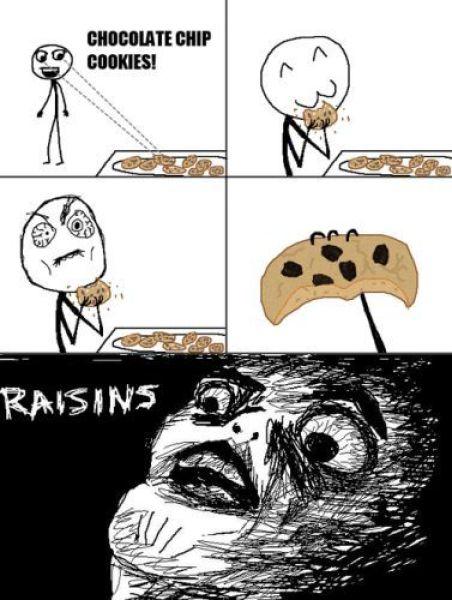 Tirinha dos memes em inglês com cookies