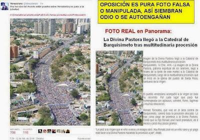 Venezuela: coup de projecteur sur les zones d´ombre médiatiques Divina+Pastora+VZA