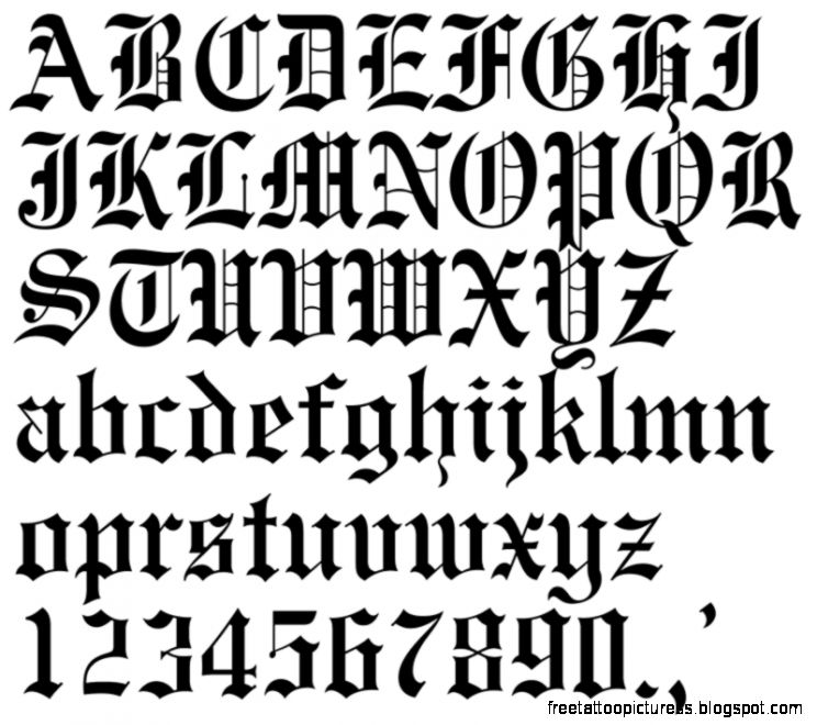 Tattoo Fonts 2 pagina 1