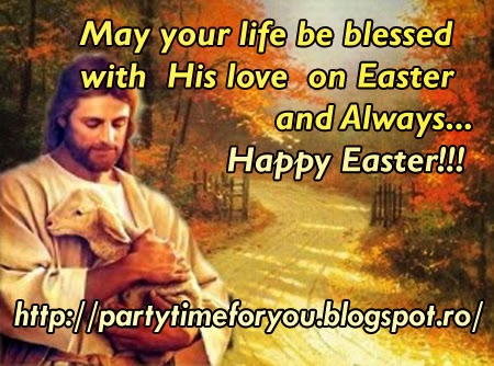 May your life be blessed with His love on Easter and Always... Happy Easter!!!.