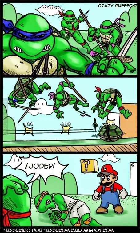 Super Mario VS Las Tortugas Ninjas
