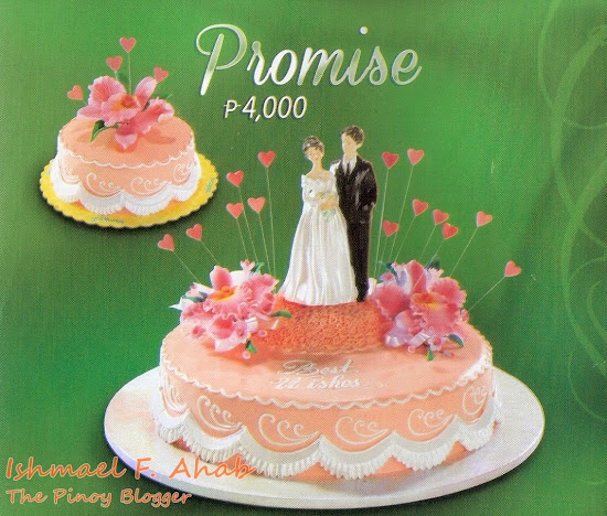 Goldilocks wedding cake: Promise