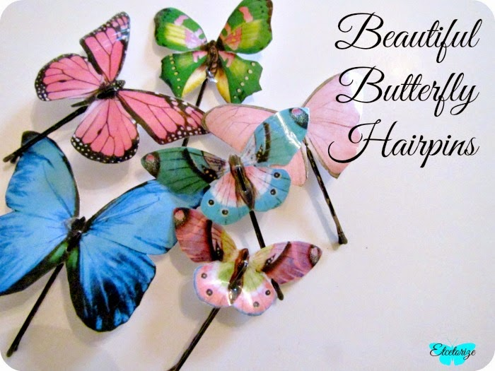 DIY Butterfly hairpins, Butterfly bobby pins