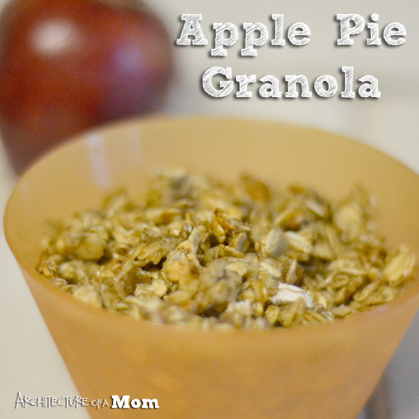 Apple Pie Granola from Architecture of a Mom