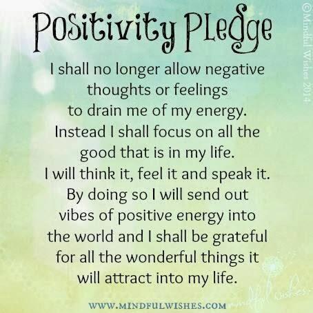 Inspirational Picture Quotes Positivity Pledge