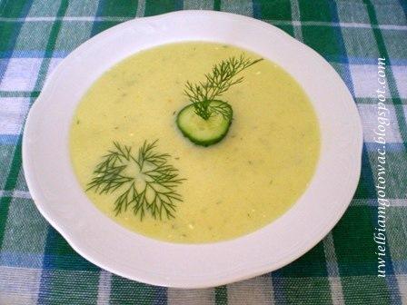 Zupa krem z zielonych ogórków