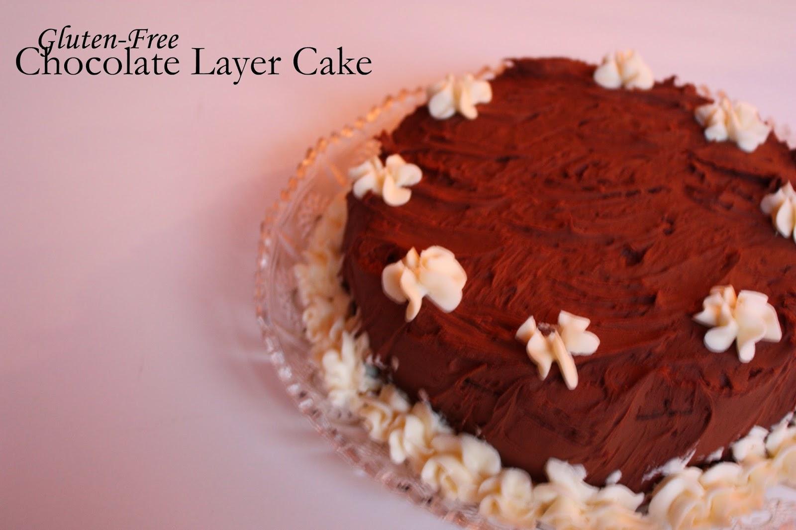 gluten free chocolate layer cake vegan