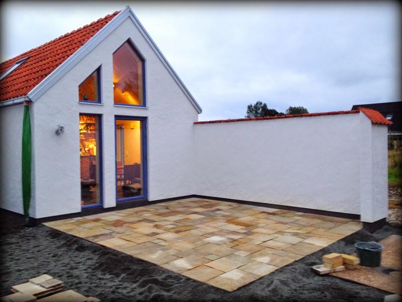 Villa Natura ekologiskt lågenergi hus Österlen sandsten