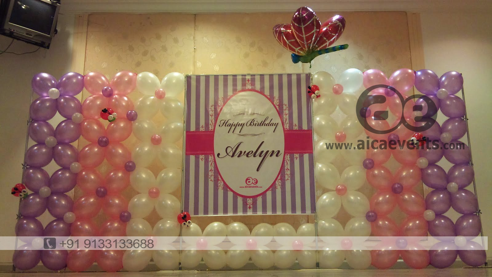 Wall Decoration Birthday Party : Aicaevents balloon decoration for birthday parties