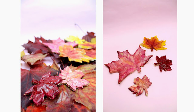 Jesień jesień..liście z masy solnej