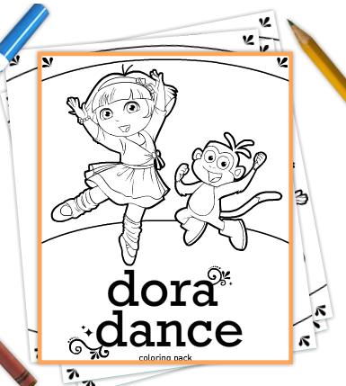 Preschool Coloring Sheets Dora Coloring Sheets Free Print