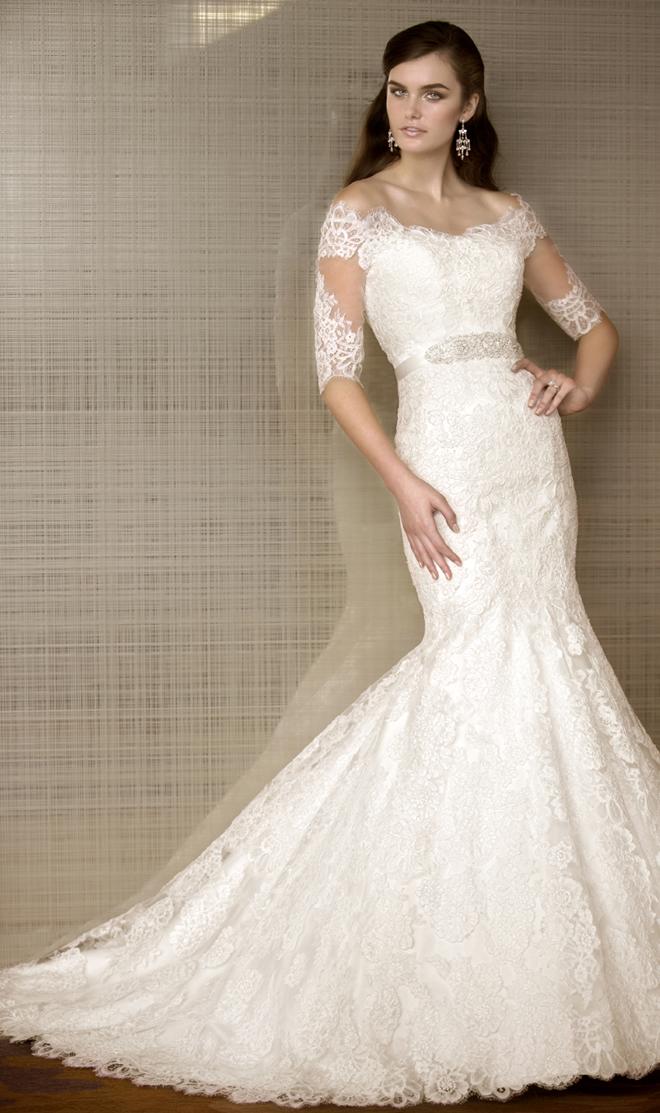 Wedding dresses lace long sleeves essense of australia bridal style