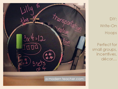 DIY: Write on Hoops from A Modern Teacher