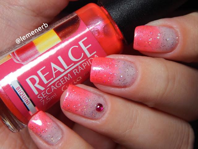 nail art rosa neon