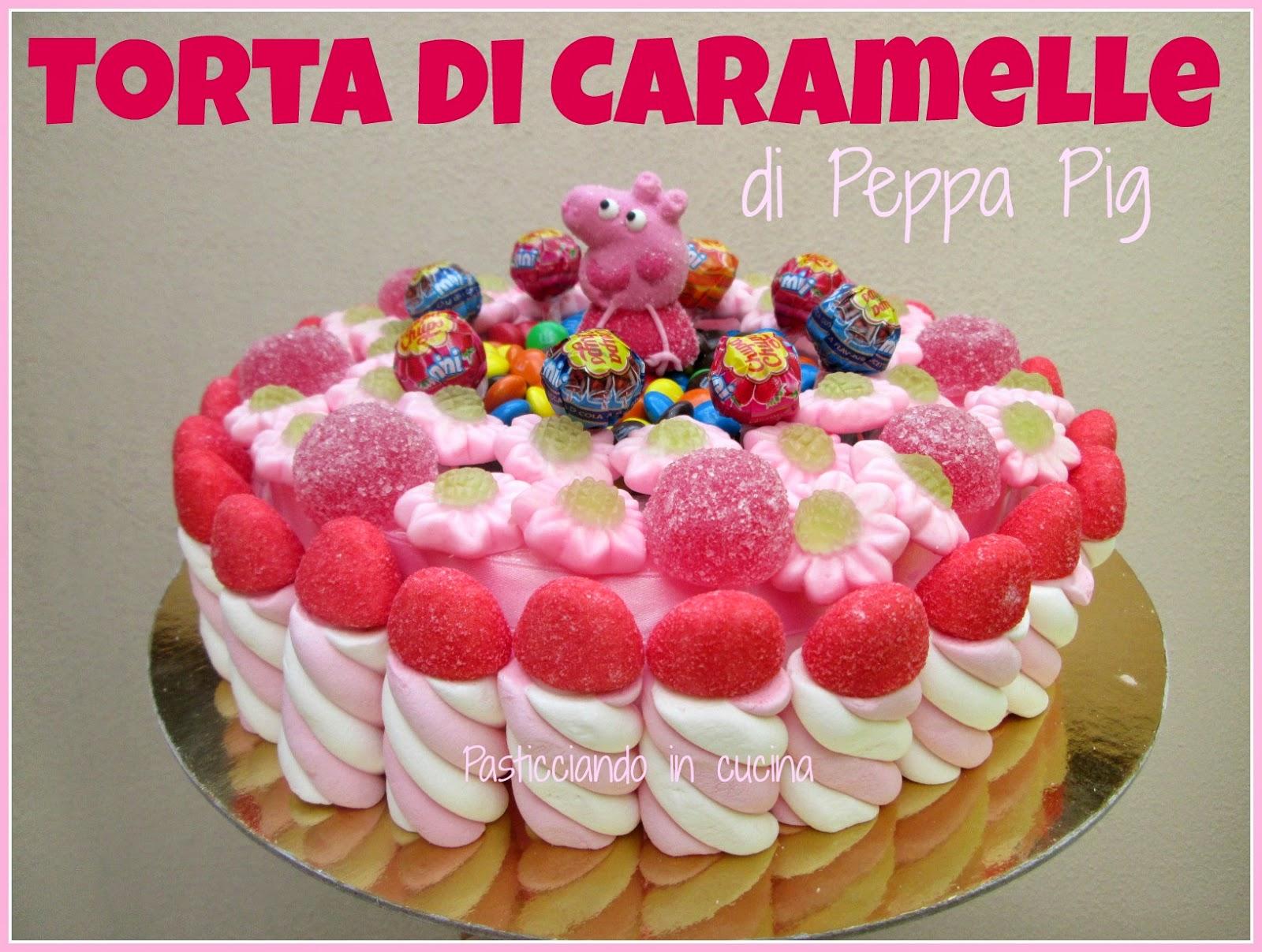 torta di caramelle di peppa pig