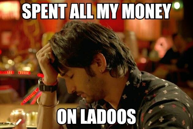 funny, Shuddh Desi Romance Sushant Singh Rajput Sad Bollywood Meme Ladoos