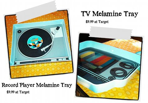 Melamine TV Trays from Target - Photo by Rebecca D. Dillon