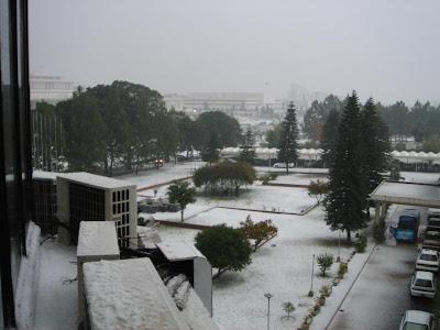 Snowfall in Islamabad