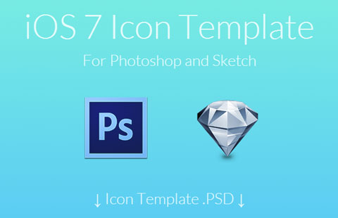 iOS7 Icon Templates For Creating Them Easier