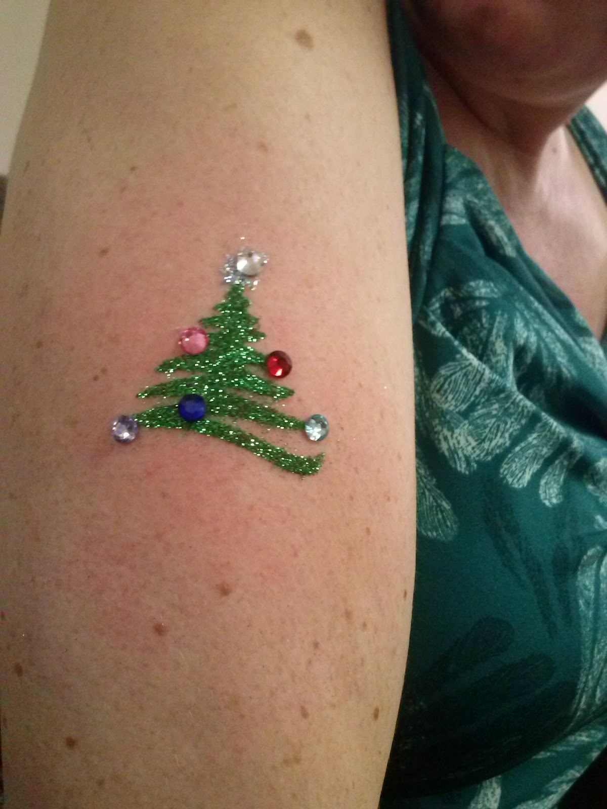 Christmas Glitter Tattoo