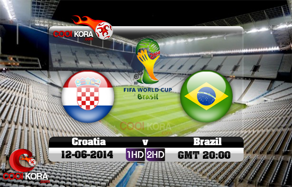 مشاهدة مباراة البرازيل وكرواتيا بث مباشر 12-6-2014 علي بي أن سبورت كأس العالم Brazil vs Croatia