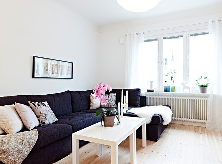 Small cute swedish apartment for Living room ideas tumblr