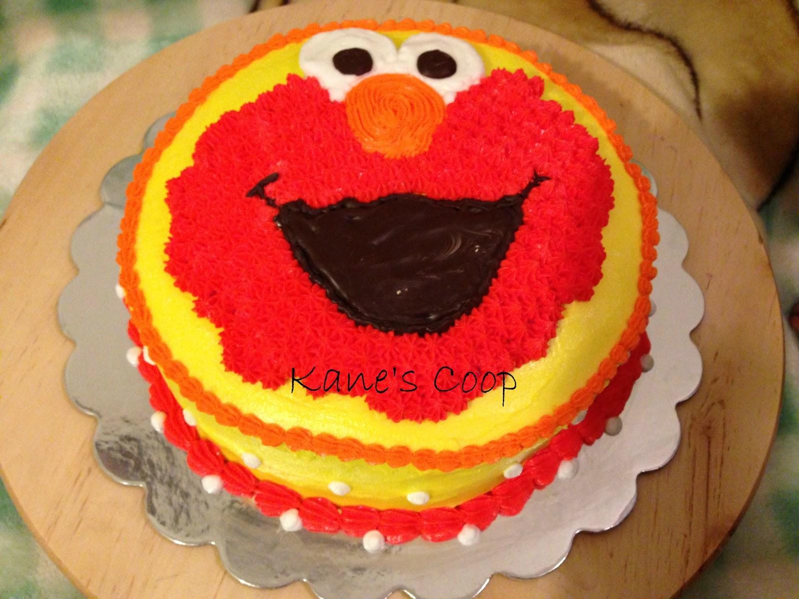 Kanescoop Elmo Cake For Sophias 1st Birthday