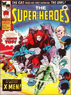 Marvel UK, the Super-Heroes #34, Giant Man vs the Human Top