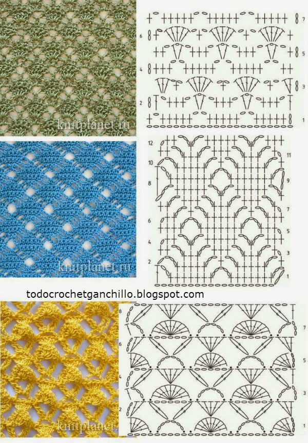 Crochet Stitches With Pictures Pdf : 25 Puntos crochet con esquemas para descargar Patrones para Crochet