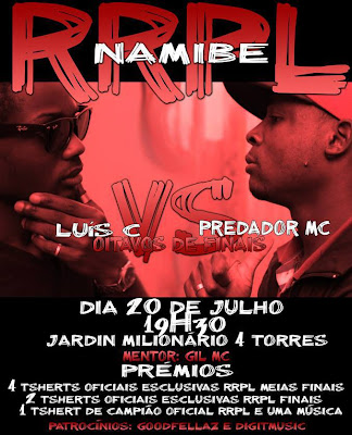 #RRPL NAMIBE Apresenta.: Luis C Vs Predador Mc||Video Oficial||‏