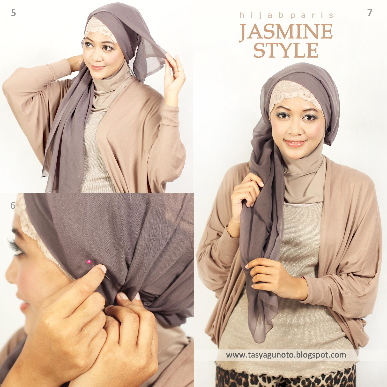 Port Of Tasya Hijab Tutorial Paris Jasmine Style